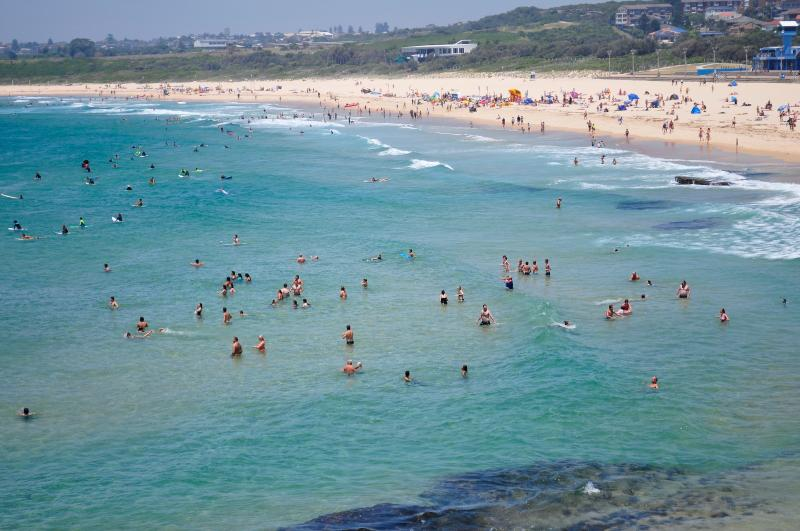 nearby beach, world famous for its surfing