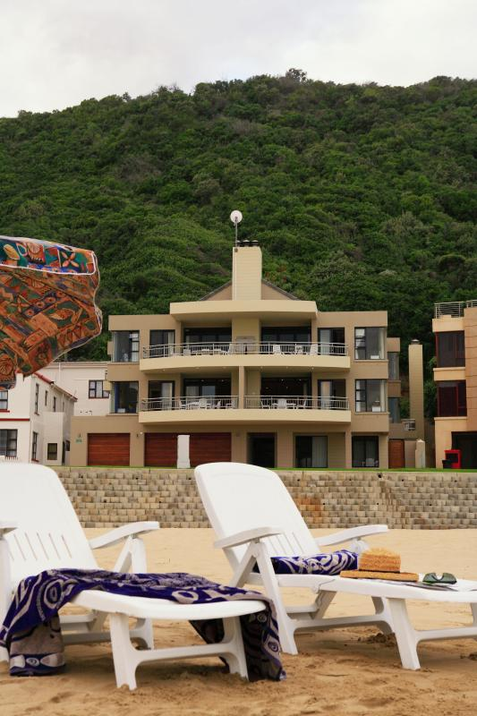 View from the beach towards MAKARIOS on SEA. The establishment is right on the beach.