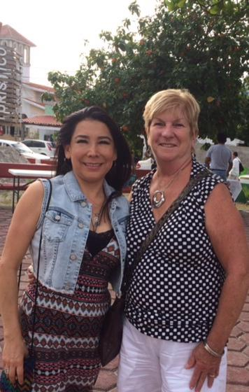 My Friend Claudia Dominquez, who is also our doctor here in Cancun. She makes house calls if needed!