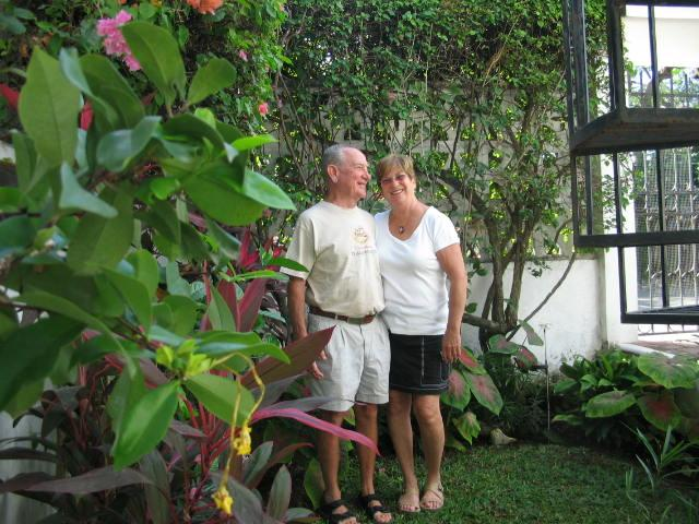 Lyle and I in our Garden.