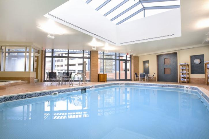 No matter the weather outside, the indoor pool can cool you down