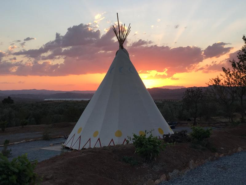 Spectacular sunsets from your teepee!