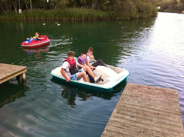 Pedalos and boats to hire