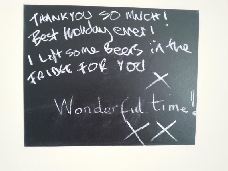 A message from our lovely guests!
