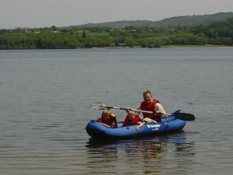 Boating on Lake Drennec