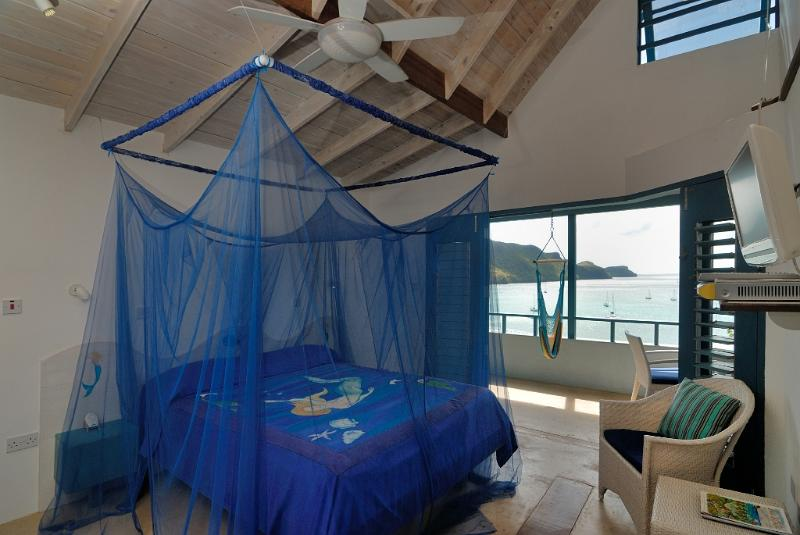 Listen to the sound of the waves from your bedroom.