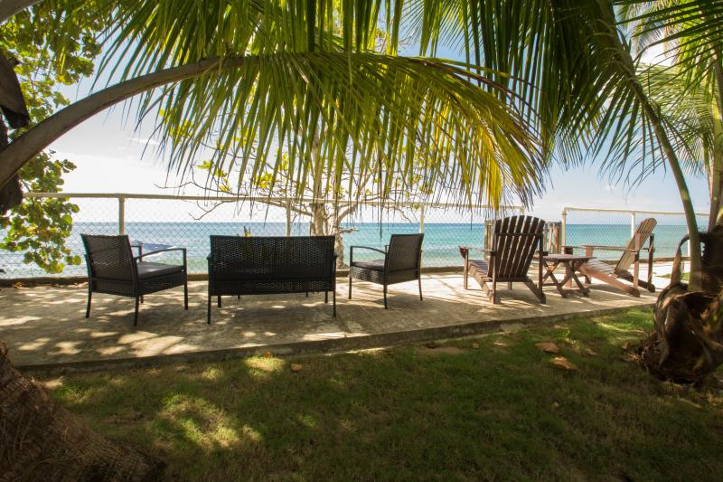 Another View of our Terrace with great views of the beach