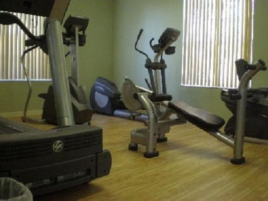exercise room in the club house 2 doors down