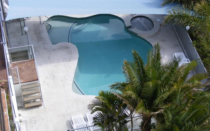 Pool and spa area.