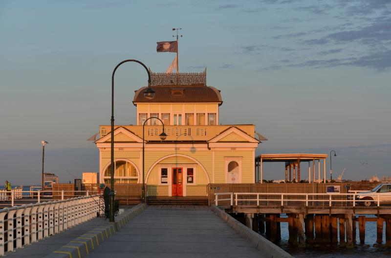 Walk along the beach to the iconic St Kilda Pier