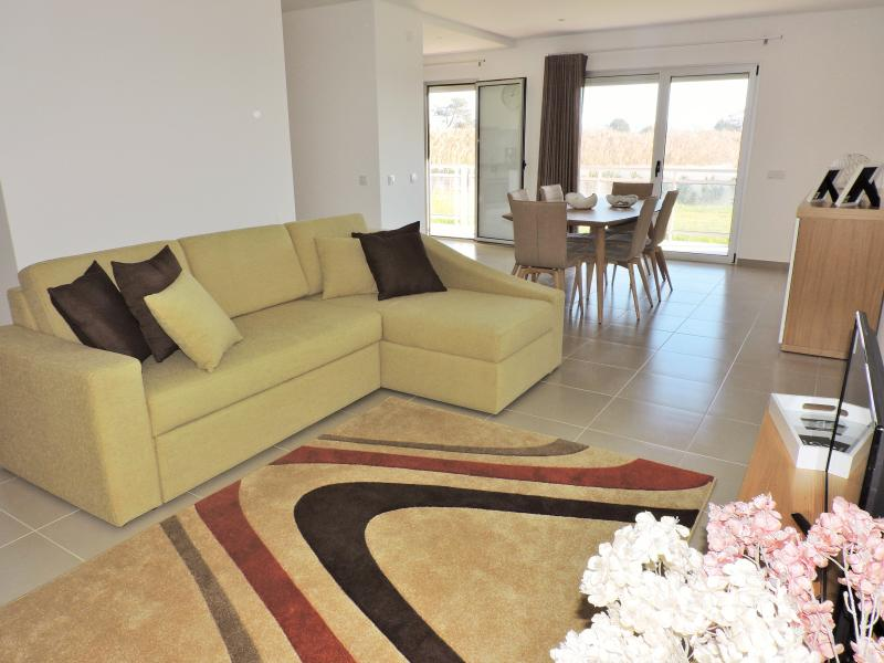 Spacious living room with sofa bed for 2 people