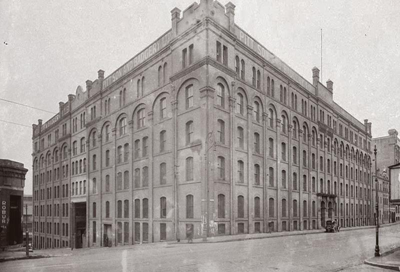 An image of the loft building when it used to be a wool production facility more than a century back