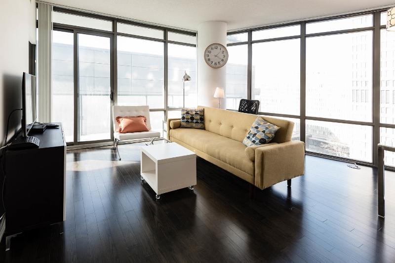Beautiful and Bright large open concept living area.