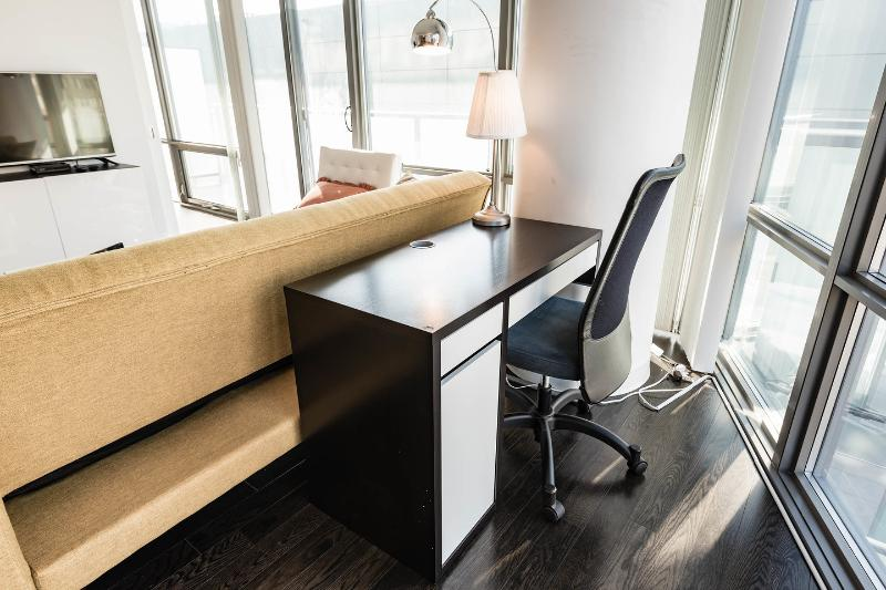 Desk for work or study.