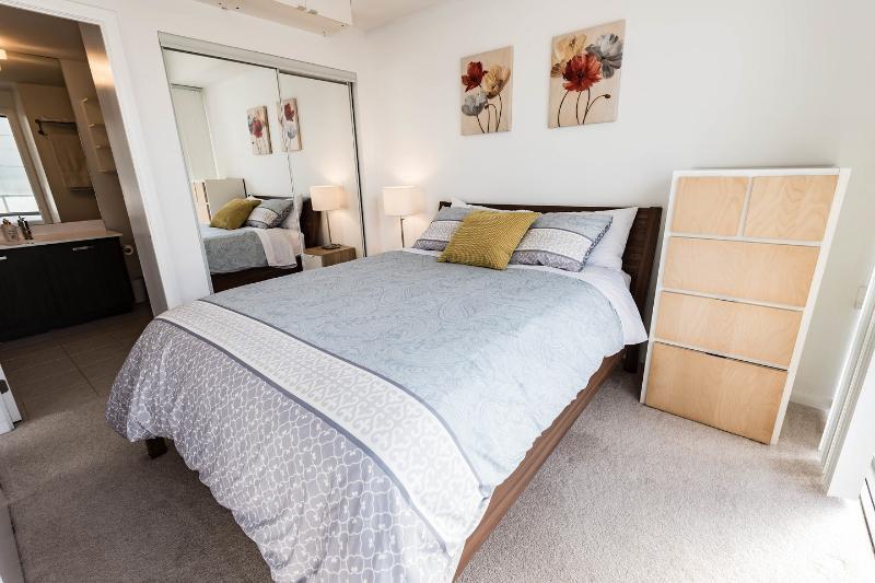 The Master Bedroom with Queen bed and en-suite bathroom