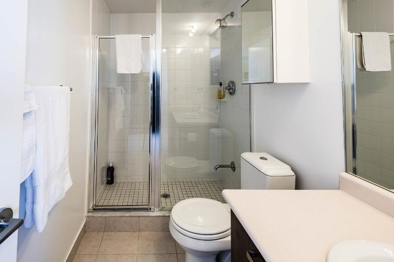 Second Bathroom with glass enclosed shower