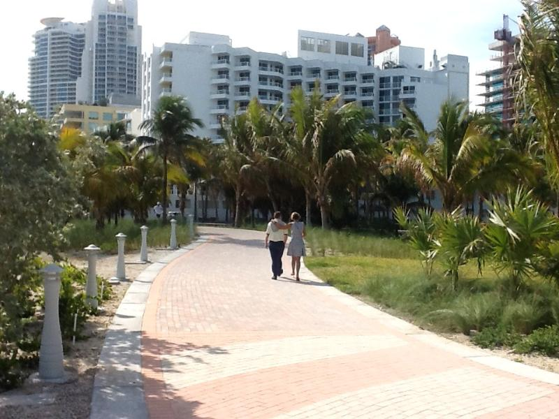 THE WALK........along the beach on the park side