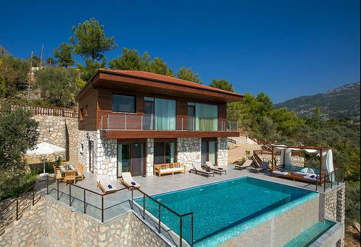 Stone and wood mix is a traditional Turkish style