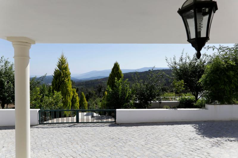 Overlooking pool, vineyard and Serra da Lousã