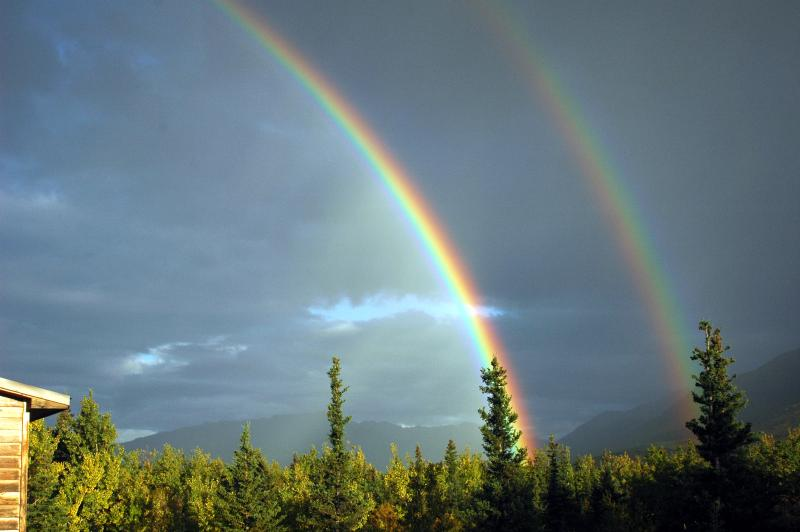 We are located on the National Park Boundary at the end of the double rainbow