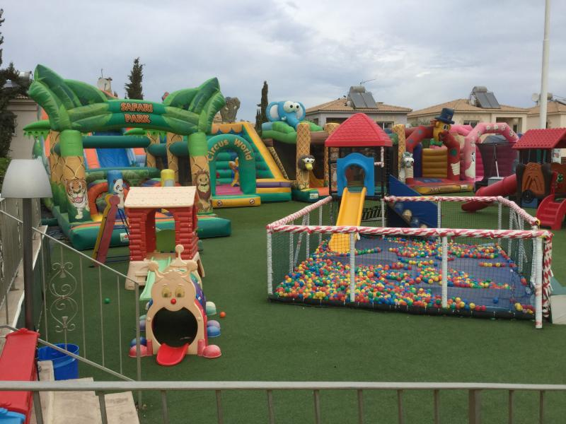 Children's play area - a short walk from Villa Mimosa. Parents can sit & watch, or join in play.