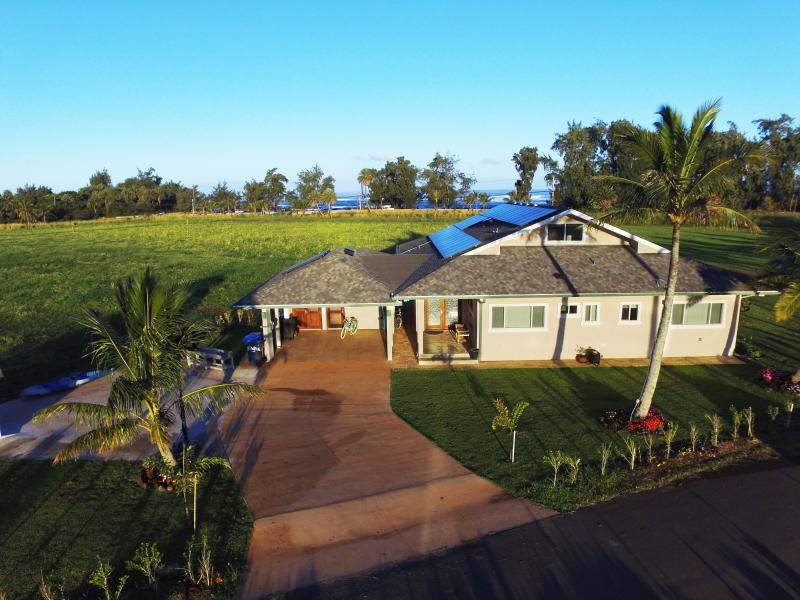 Aerial shot of the North Shore Country Villa