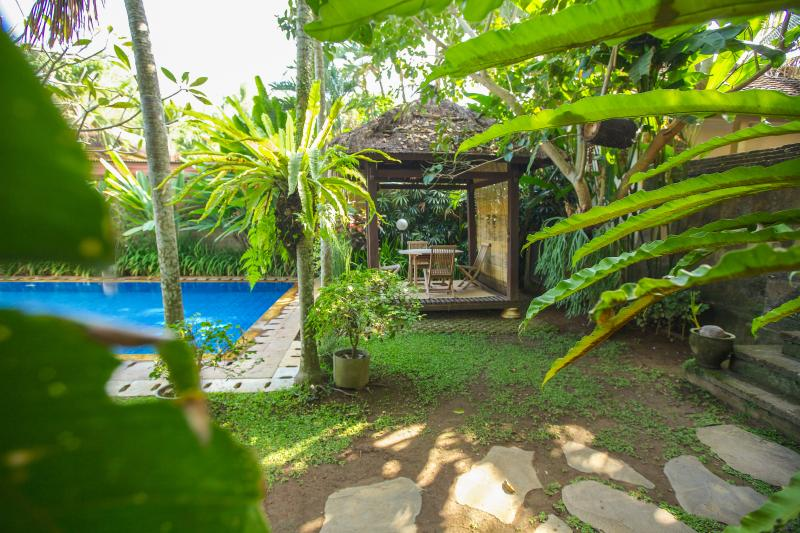 A magical, traditional balinese garden with 12m x 7m pool