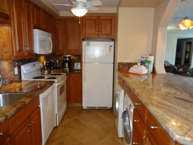401 completely remodeled kitchen with quartzite counters and solid cherrywood cabinets