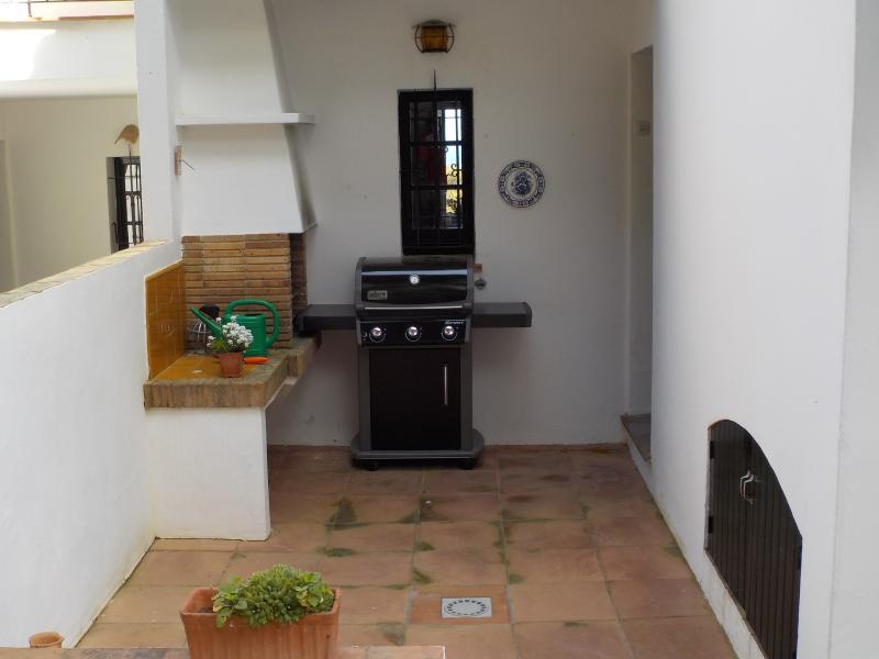 Back patio & Barbecue