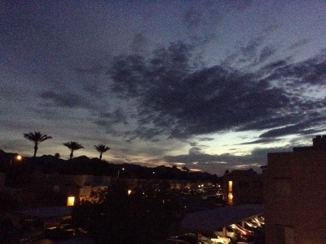 Watch the beautiful morning sunrise from the balcony in gorgeous North Scottsdale