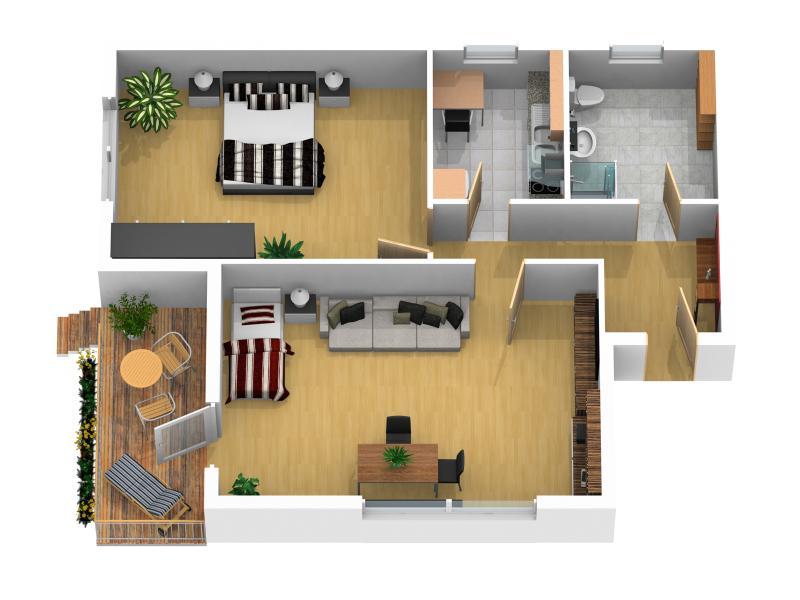 plan vacation rental 'la Casa'