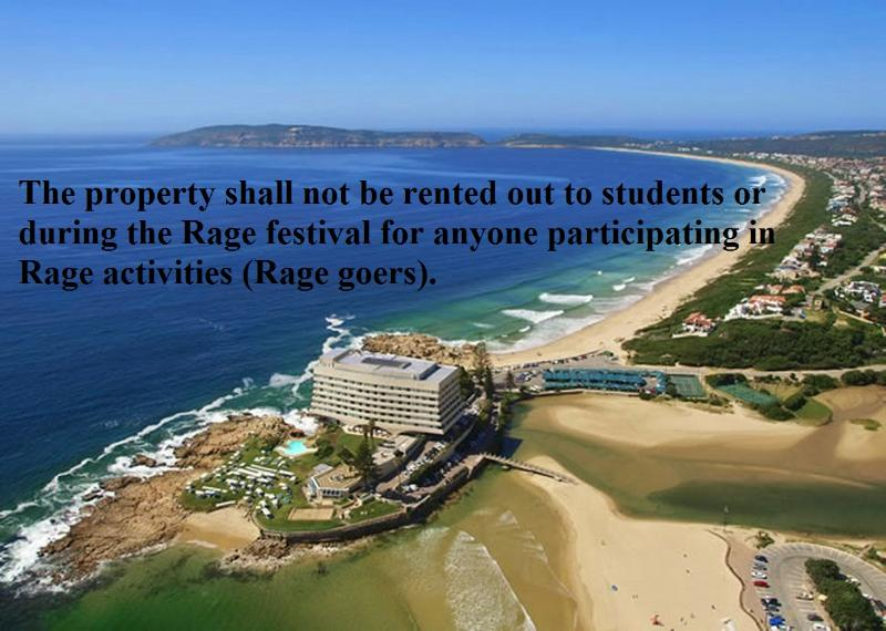 The property shall only be rented out to traveling families/adults on vacation.