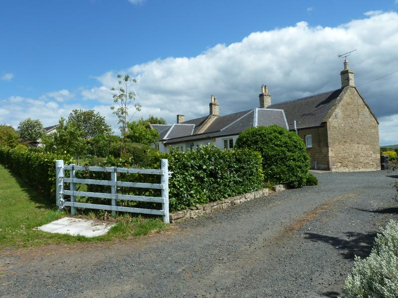 Babingtons Cottage with stunning views over the Cheviot & Lammermuir Hills. Pets Welcome