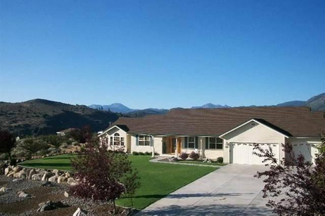 Our home with the Sierra Crest in the background