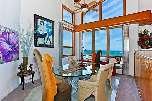 Dining area with amazing ocean view