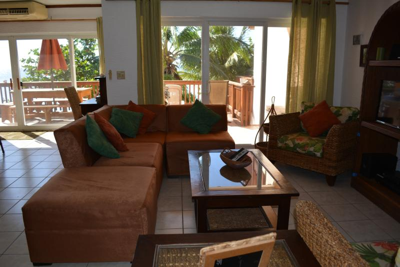 Another view of the living area with Ocean Views throughout