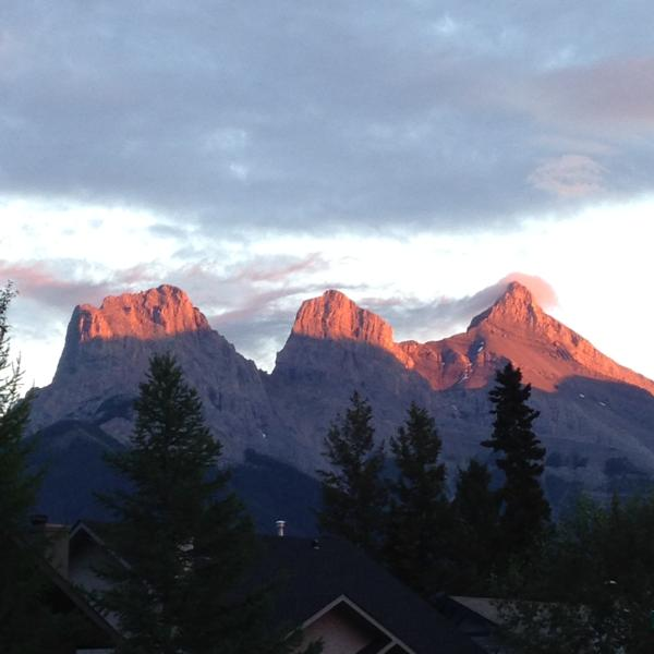 Our view of the 3 sisters