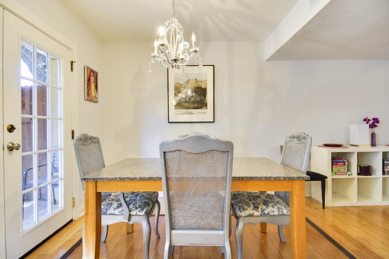 Dining room can seat up to six people