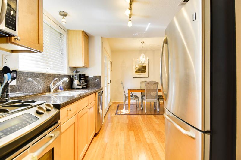 stainless seal appliances in kitchen