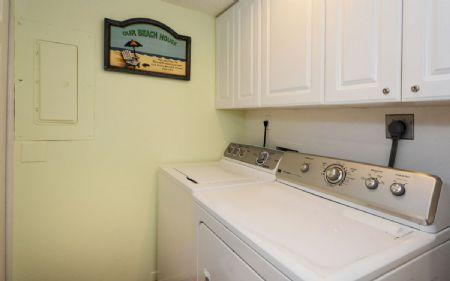 Washer and Dryer in the Condo's Utility Room
