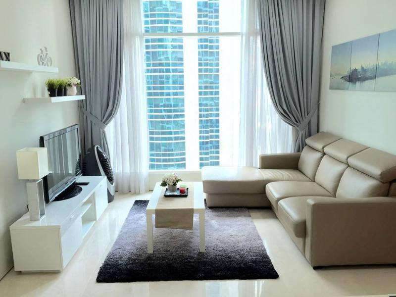 Cosy living room with cable TV and amazing view.