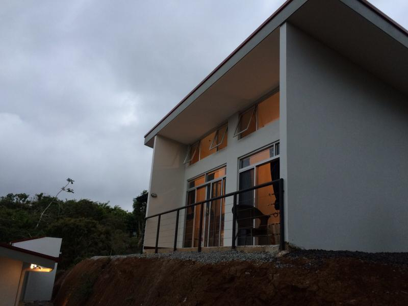 view of the villa from the parking