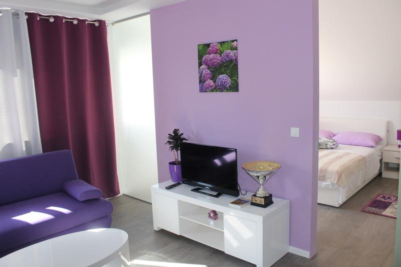 Lounge area and double bedroom