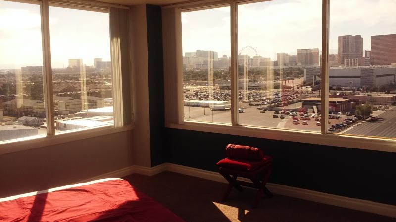 Master bedroom view of the ENTIRE City and FULL Las Vegas STRIP!