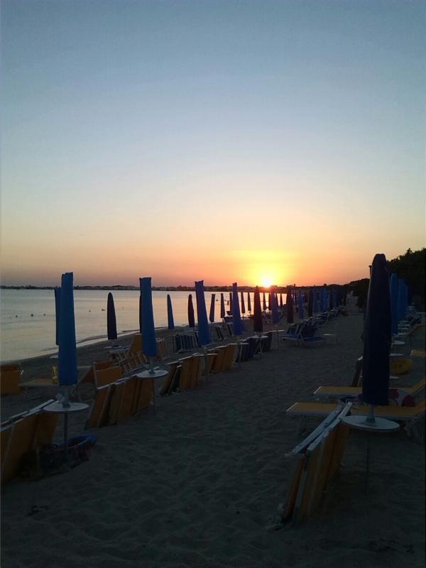il tramonoto a Porto Cesareo