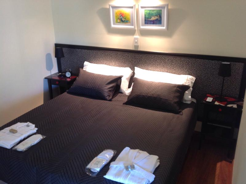 King super double or 2king super singles. Cloud comfort bed. Luxury pillows, robes,  free slippers