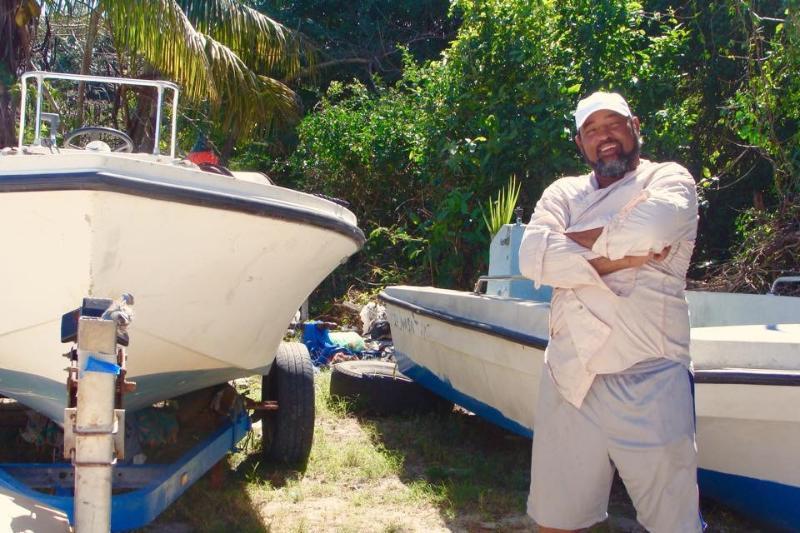 My caretaker, Kervin Culmer who can take you fishing!