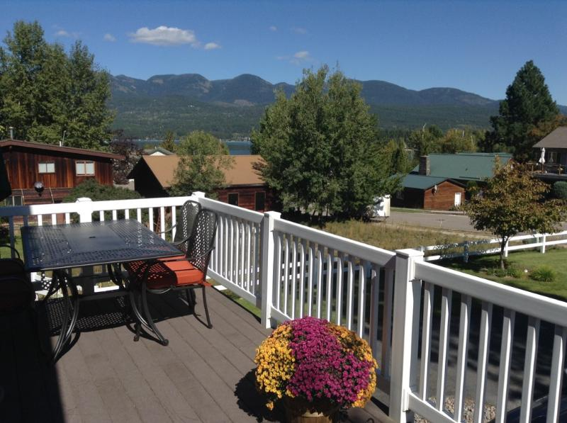 Whitefish Lake View and Big Mountain View from Front Deck