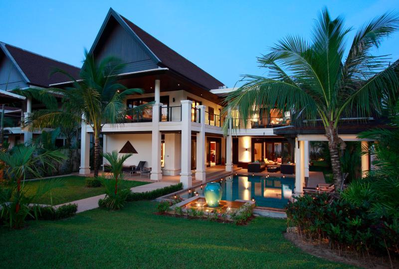Villa at dusk