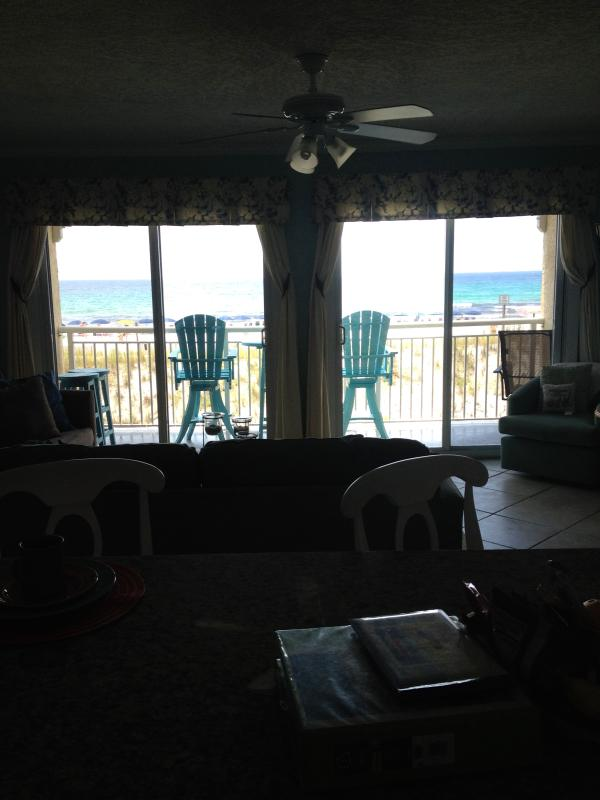 View of balcony and Gulf of Mexico